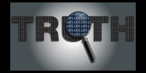 Lies hidden behind truth illustration